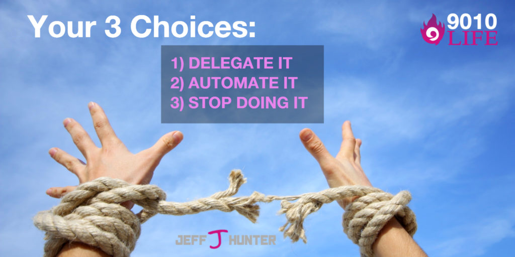 Delegate, Automate, or Stop Doing it