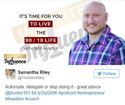 EP: 053 It's Time For You To Live The 90 / 10 Life with Jeff J Hunter