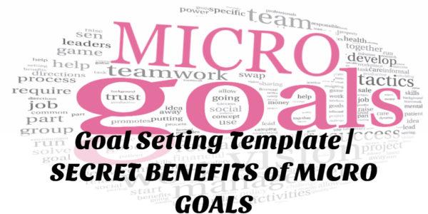 Goal Setting Template | The SECRET of MICRO GOALS